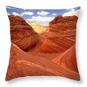 Glowing Butte At The Wave Throw Pillow