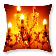 Glowing Chandelier--companion Piece Throw Pillow