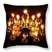 Glowing Chandelier With Border Throw Pillow