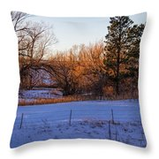 Glowing Cottonwoods Throw Pillow