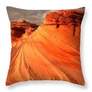 Glowing Desert Dragon Throw Pillow