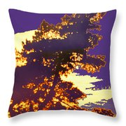Glowing Edges Throw Pillow