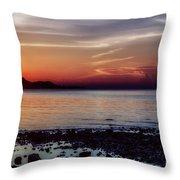 Glowing Evening Throw Pillow