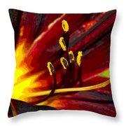 Glowing Flower Power Throw Pillow