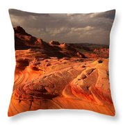 Glowing Flying Dragon Throw Pillow