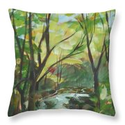 Glowing From The Flood Throw Pillow