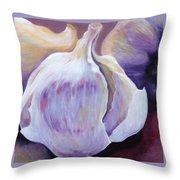 Glowing Garlic Throw Pillow