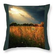 Glowing Grass Throw Pillow