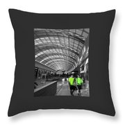 Glowing Green  Throw Pillow