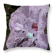 Glowing Hibiscus Throw Pillow