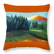 Glowing Hill Throw Pillow
