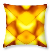 Glowing Honeycomb Throw Pillow