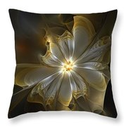 Glowing In Silver And Gold Throw Pillow