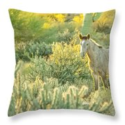 Glowing In The Wild Throw Pillow