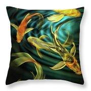 Glowing Koi  Throw Pillow