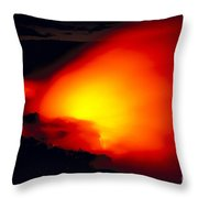Glowing Lava Flow Throw Pillow
