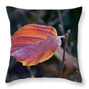 Glowing Leaf Throw Pillow