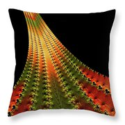 Glowing Leaf Of Autumn Abstract Throw Pillow
