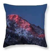 Glowing Little Cottonwood Canyon Throw Pillow
