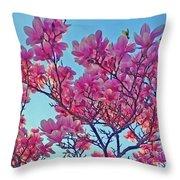 Glowing Magnolia Throw Pillow