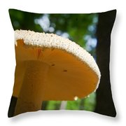 Glowing Mushroom Cap Throw Pillow