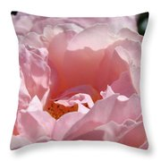 Glowing Pink Rose Flower Giclee Prints Baslee Troutman Throw Pillow