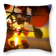 Glowing Red II Throw Pillow
