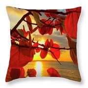 Glowing Red Throw Pillow