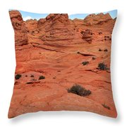 Glowing Sand In The Buttes Throw Pillow