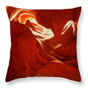 Glowing Sandstone Ledges Throw Pillow