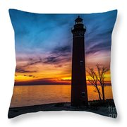 Glowing Sky At Little Sable Throw Pillow