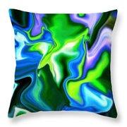 Glowing Stem Throw Pillow