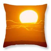 Glowing Sunball Throw Pillow