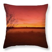 Glowing Sunset Throw Pillow
