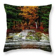 Glowing Tranquility Throw Pillow