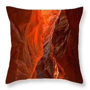 Glowing Walls Of Buckskin Gulch Throw Pillow