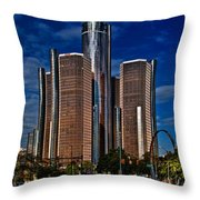 Gm And Marriot Monster In Detroit Throw Pillow
