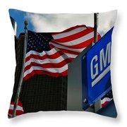 Gm Flags Throw Pillow