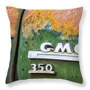 Gmc 350 Tag Throw Pillow