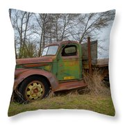 Gmc Green Throw Pillow