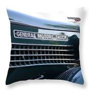 Gmc Hood Throw Pillow by David Lee Thompson