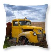 Gmc Yellow Throw Pillow