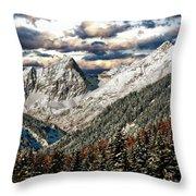 Gnadenwald In Autumn Throw Pillow
