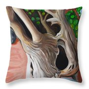 Gnarled And Greying Throw Pillow