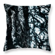 Gnarled Vines Surround A Tree Throw Pillow