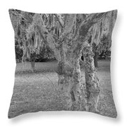 Gnarly - Black And White Throw Pillow
