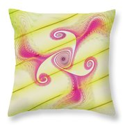 Gnarly Spiral Throw Pillow