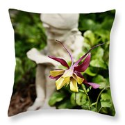 Gnome And Columbine Throw Pillow