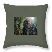 Gnome Wizard Throw Pillow