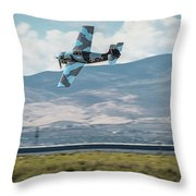 Go Fast Turn Left Fly Low Friday Morning Unlimited Bronze Class Throw Pillow